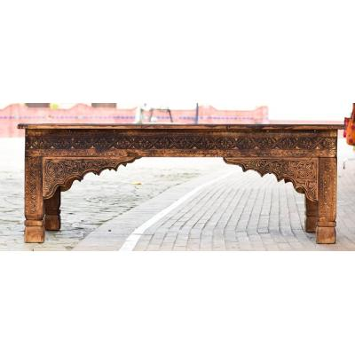 Sawati hand-carved table made of Sheesham and Kail wood beautiful art work