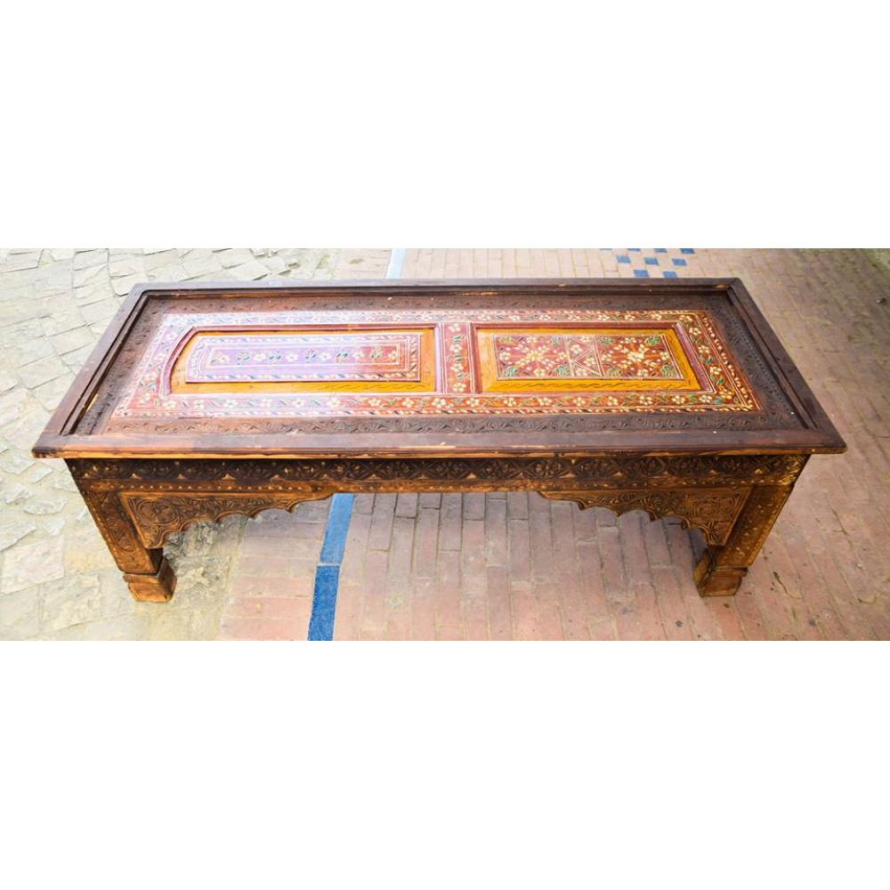 Sawati Hand Carved Table Made Of Sheesham And Kail Wood Beautiful Art Work