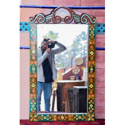 Swat painted mirror frame