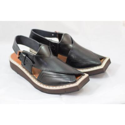 Black Kaptain Chappal
