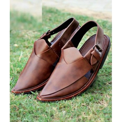 Brown Nourozi Chappal for Men