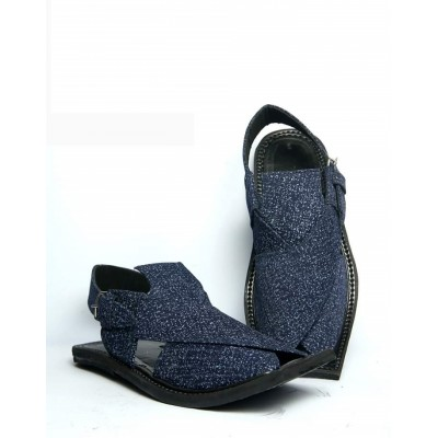 Blue Peshawari Men Chappal