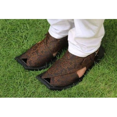 Brown Peshawari Chappal